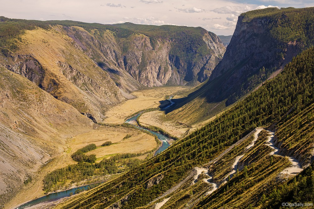 Altai Mountains. Chulyshman valley