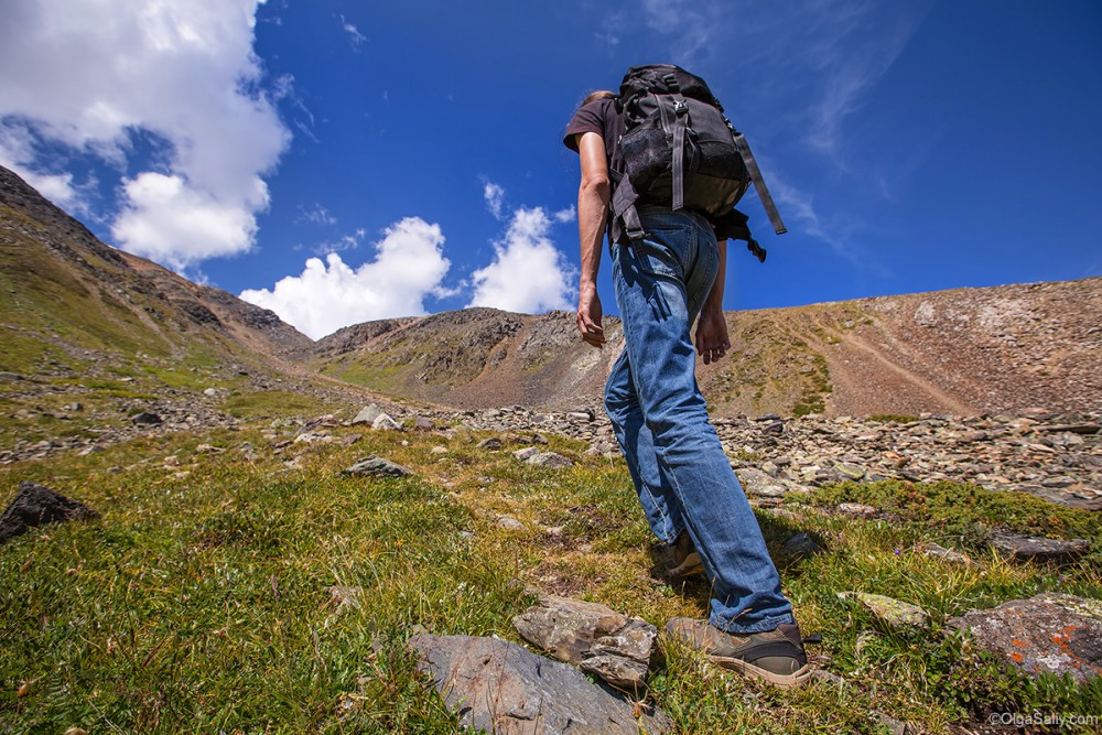 Altai Mountains. Travel in Aktru valley, way to Uchitel
