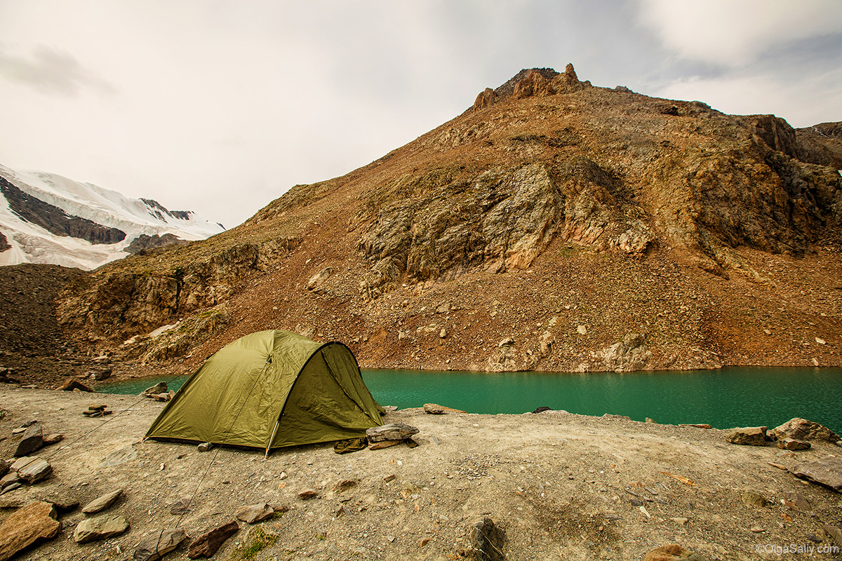 Tent in Altai Mountains