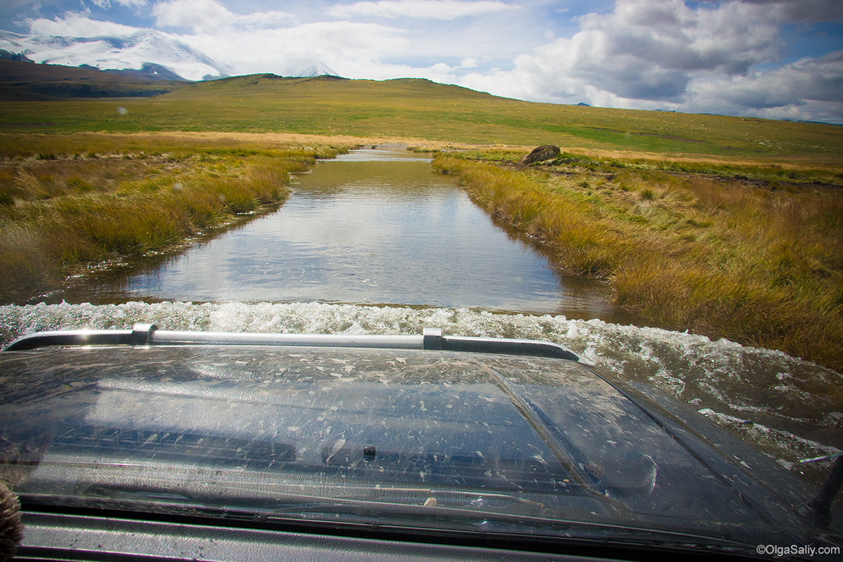 Auto travel in Altai Mountains Ukok