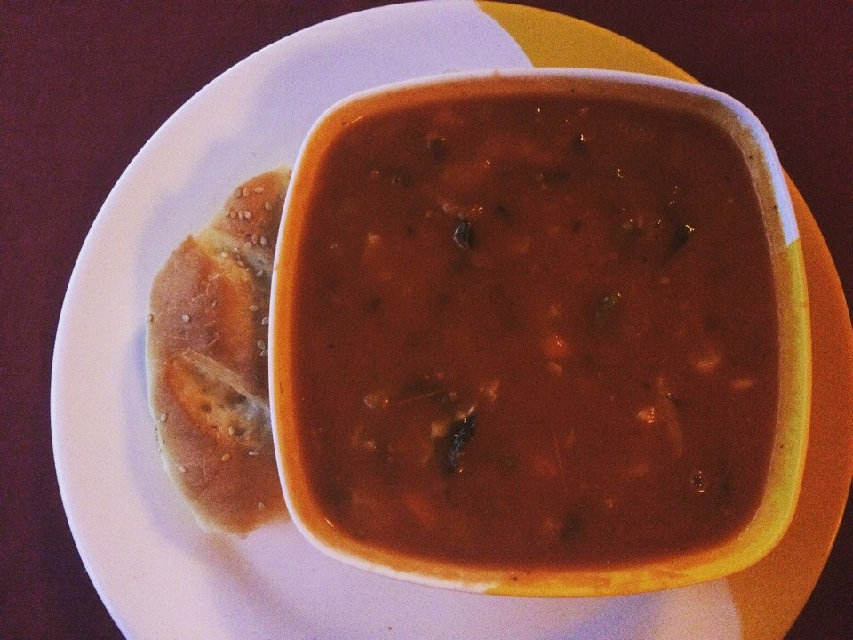 Tomato soup in Nepal
