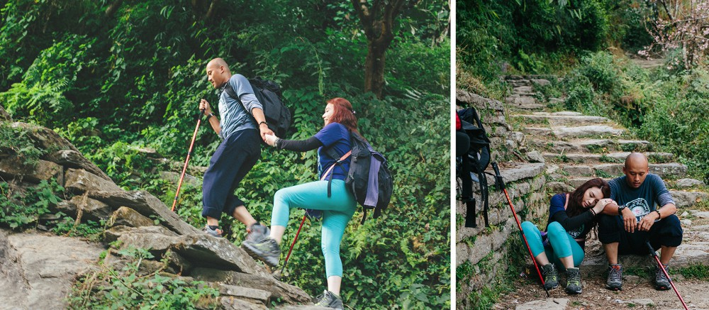 Steps on Trekking to Poon hill