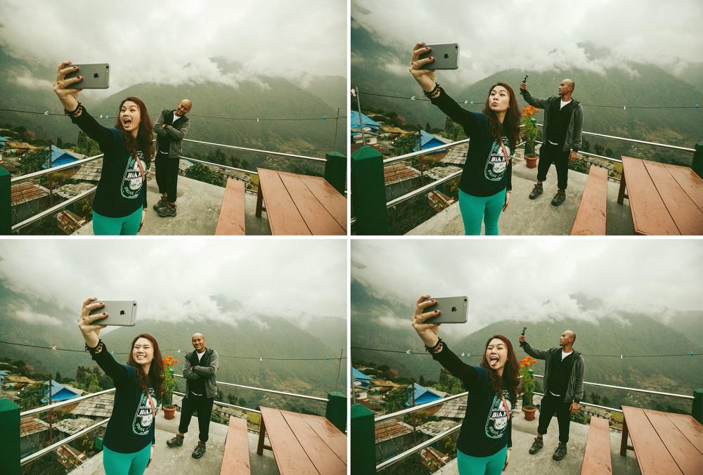 Selfi in Mountains