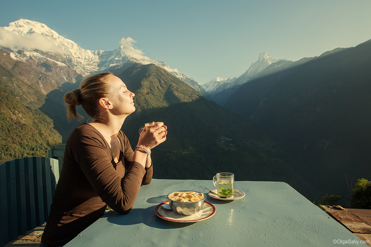 Annapurna Base Camp Trek. Breakfast