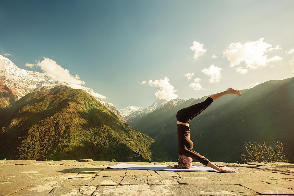 Annapurna Base Camp Trek - morning yoga
