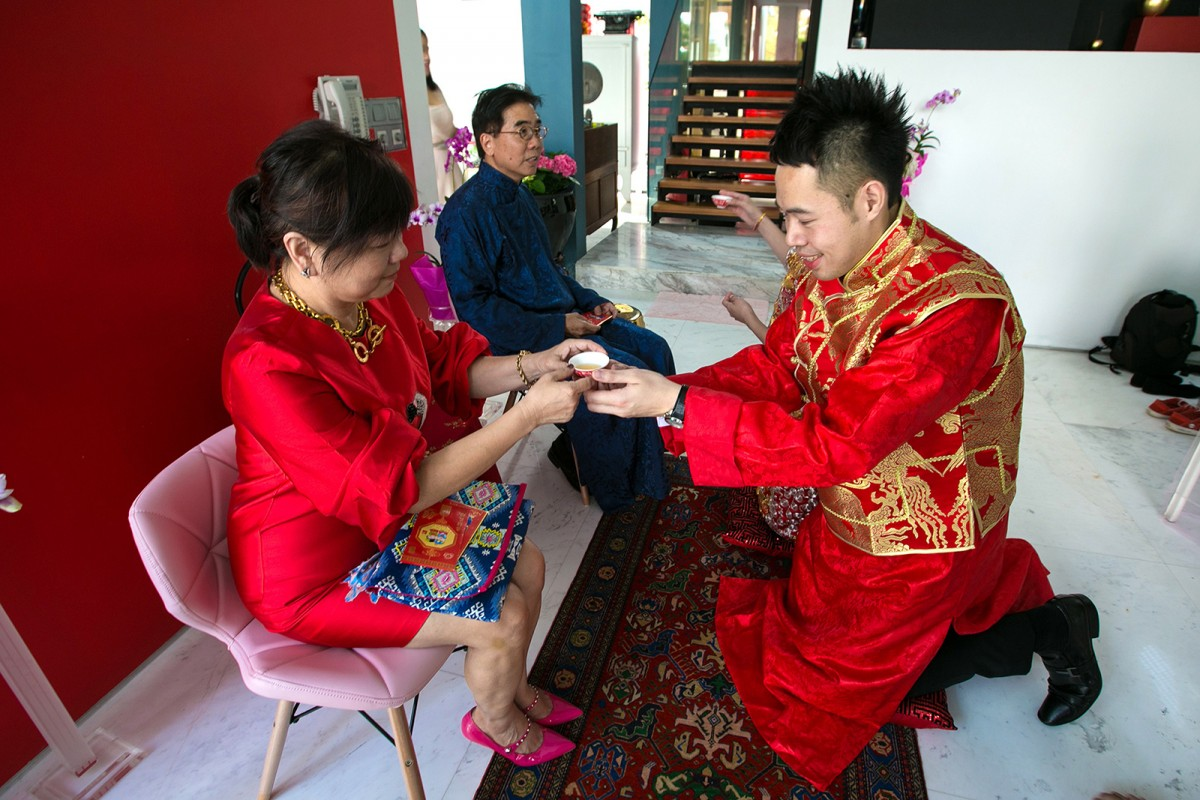Singapore Wedding Chinese tea wedding ceremony