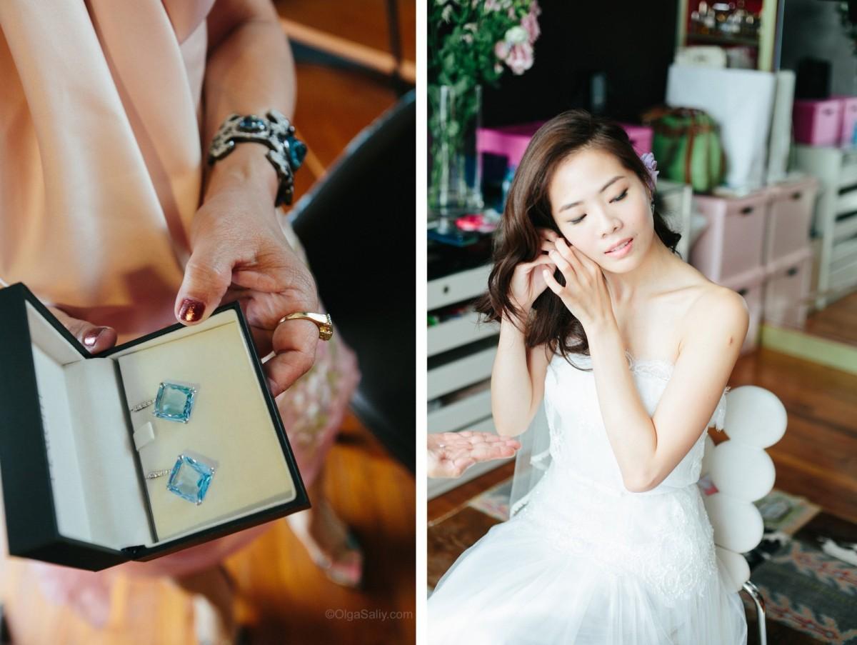 Singapore Wedding Bride preparing