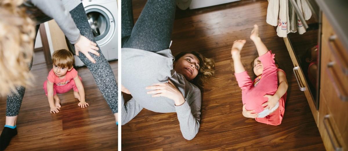 Family photo shooting, yoga