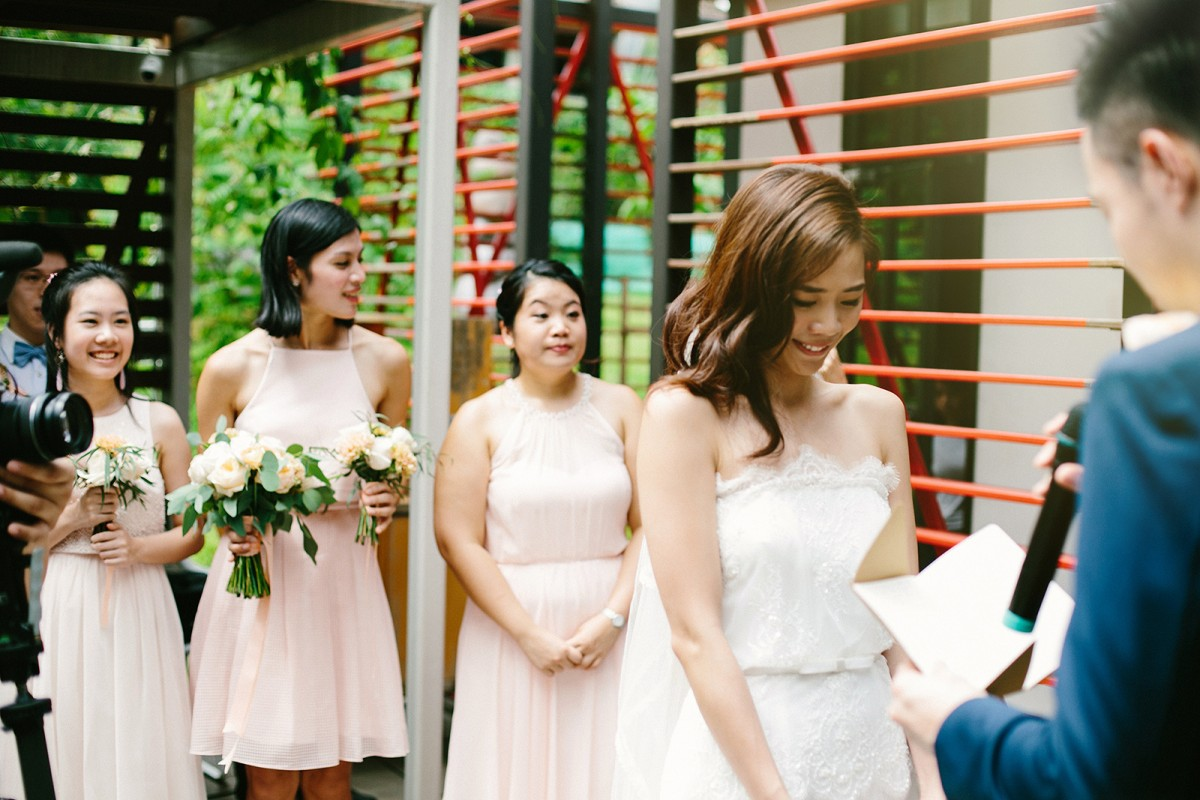 Singapore Wedding Bride and Groom Ceremony