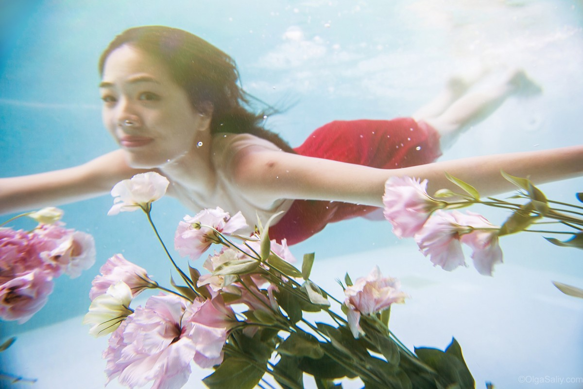 After Wedding day, underwater