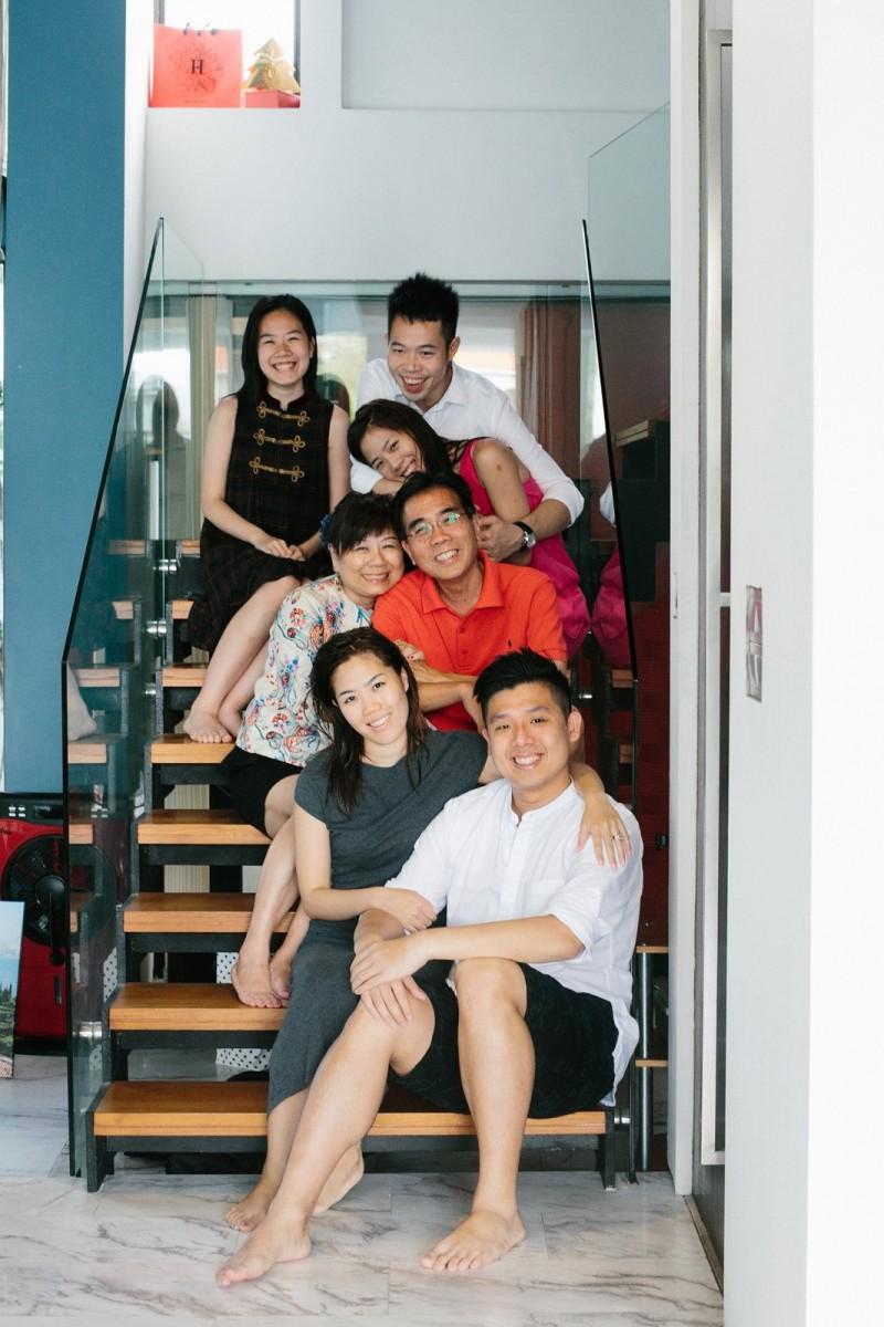 Singapore Wedding Family Portrait