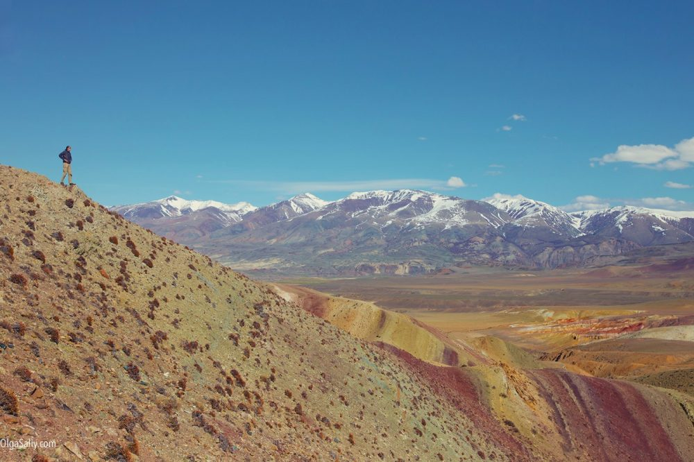Landscape in Altai Mountains, Mars valley