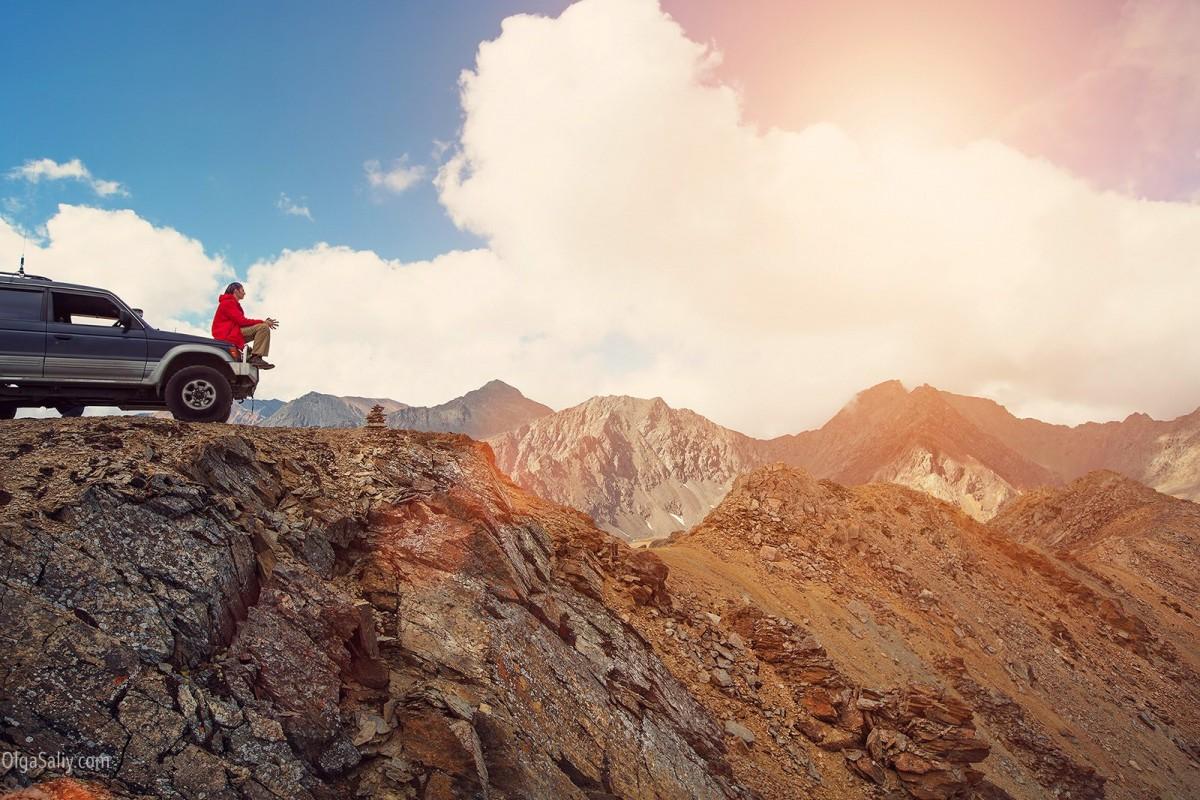 Altai, Aktash, mountain top view