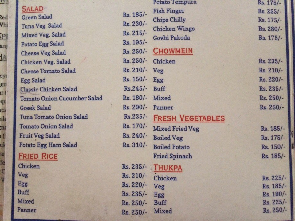 Nepalese Food and Menu in pictures