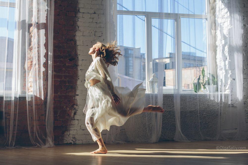 dancing woman abstract art portrait