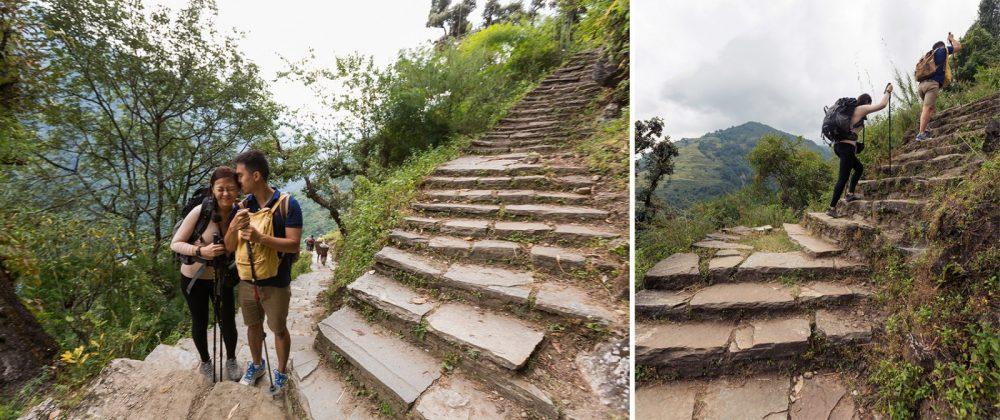 Steps on the Way to Annapurna Camp