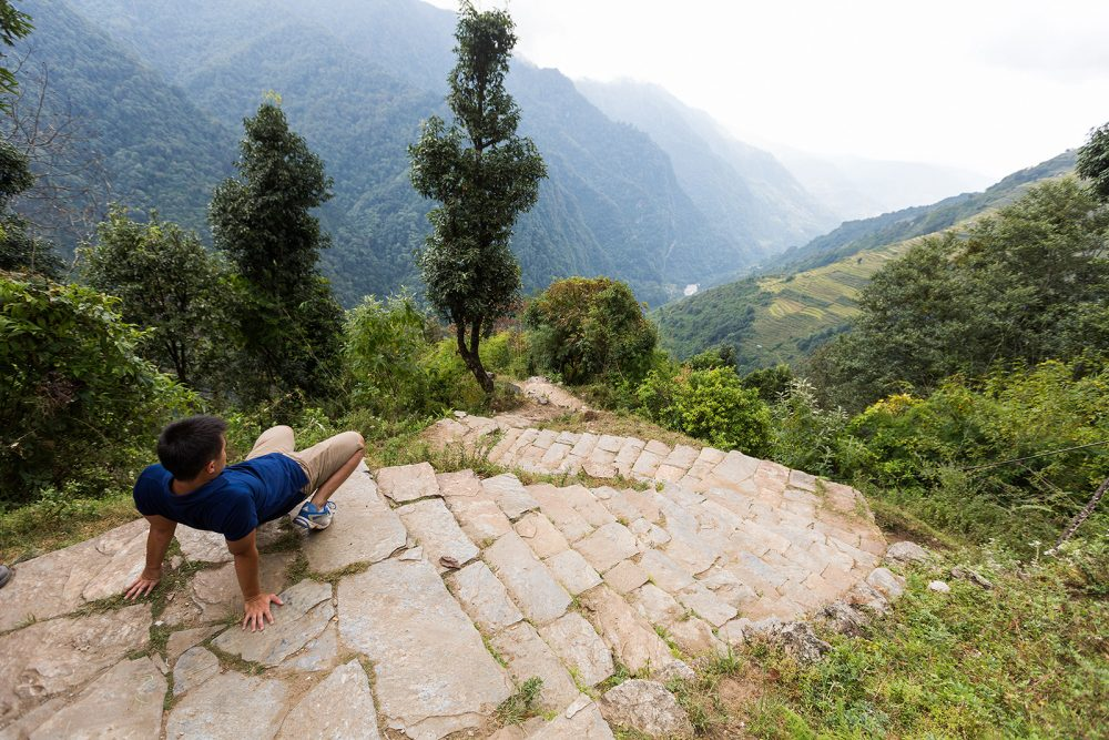Steps on the Way to Annapurna Base Camp