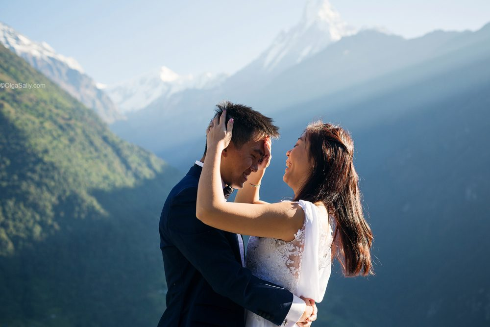 Pre-Wedding Mountain photo in Nepal