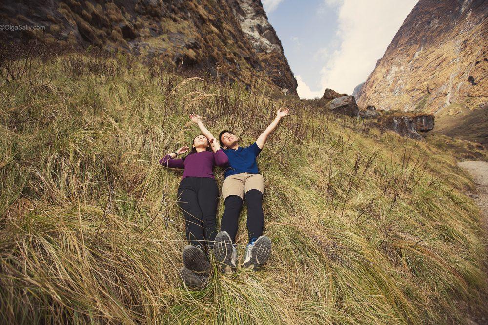Pre-Wedding Mountain PhotoShoot in Nepal ABC