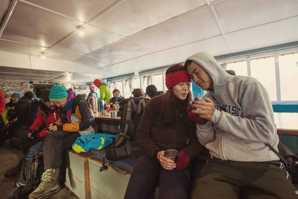 Tea in Annapurna base camp