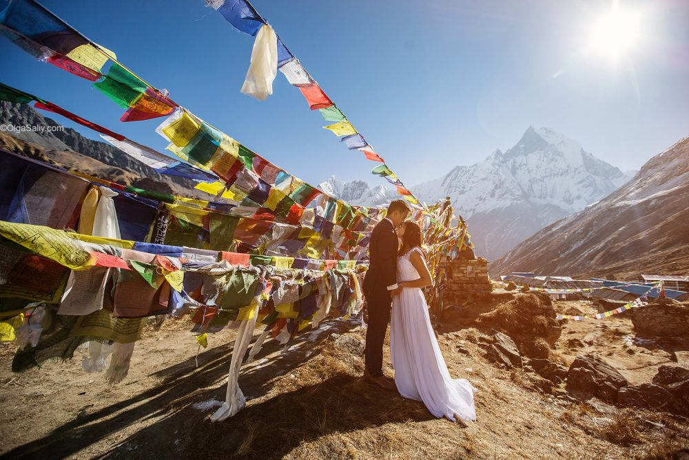 Wedding Photography in Nepal Mountains Annapurna