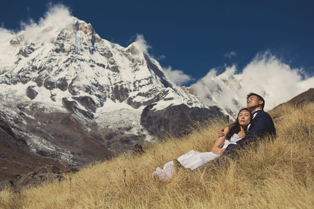 Wedding photo story in Himalayas