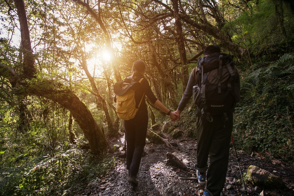 Mountain trekking photo story