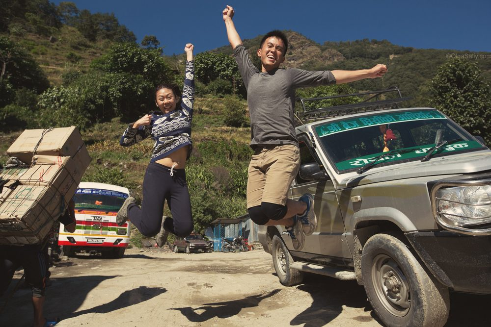 Jeep car from Siwai to Pokhara - we did it!