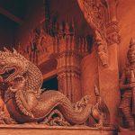 The red temple, Lamai Beach, Koh Samui. Wat Sila Ngu
