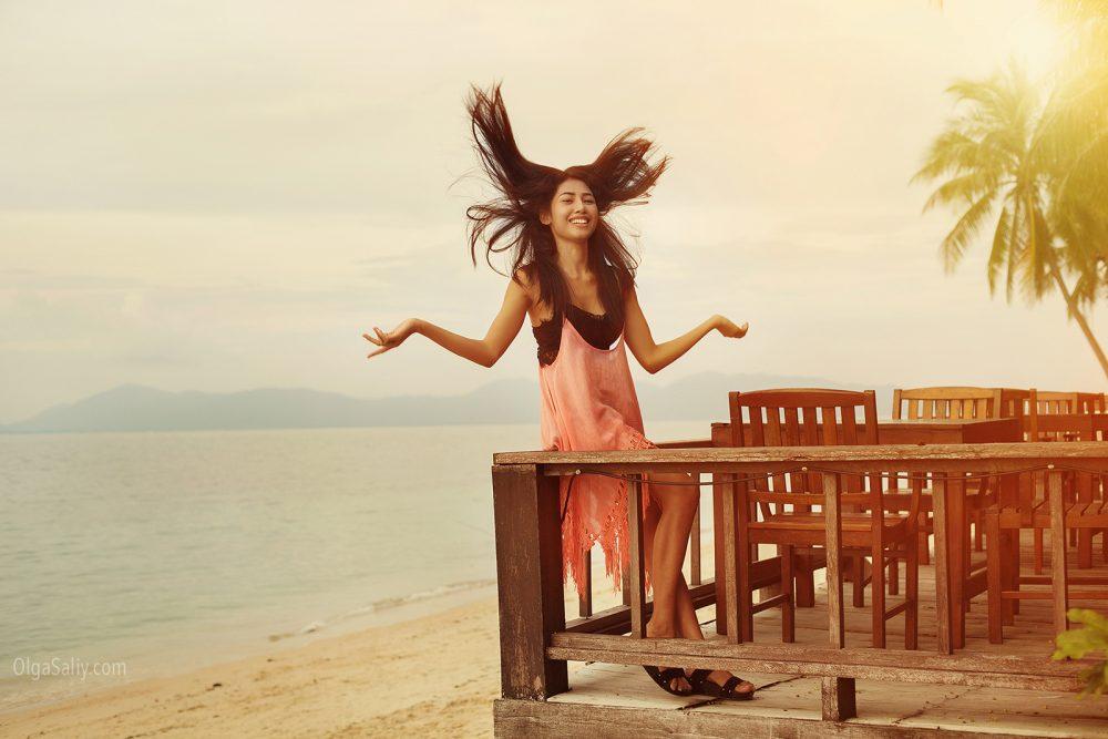 Beautiful Thai girl on Samui