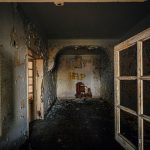 Abandoned hospital. Somewhere in misty mountains. Portugal