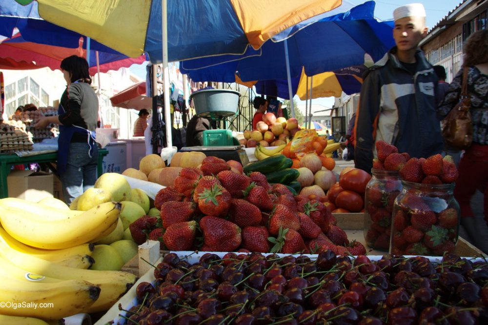 Kyrgyz market, Issyk-Kul