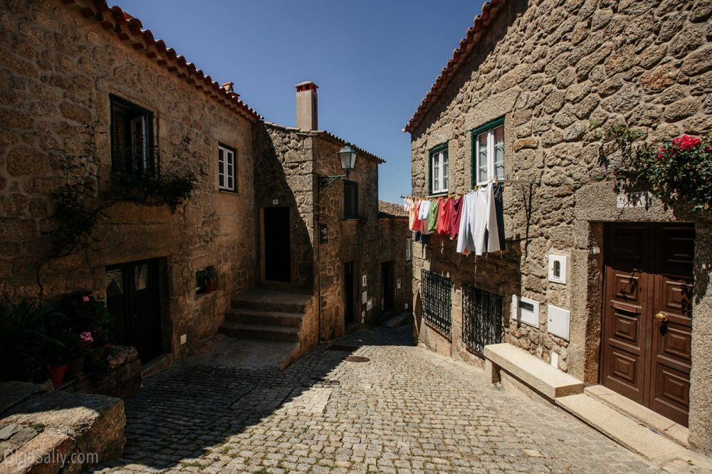 Streets and stone houses in Monsanto