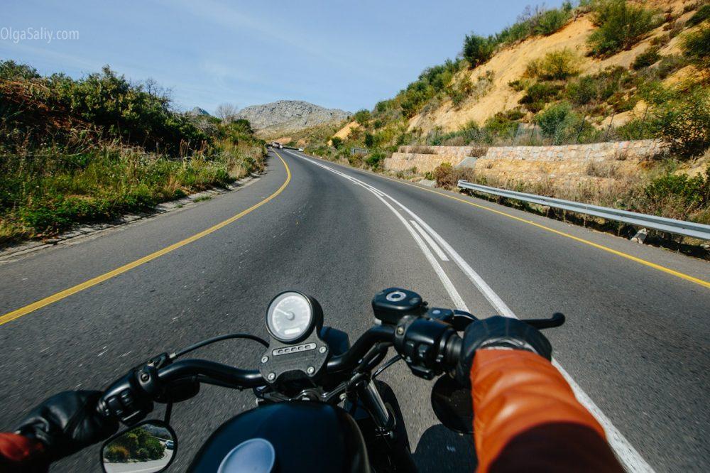 Riding bike in Cape Town