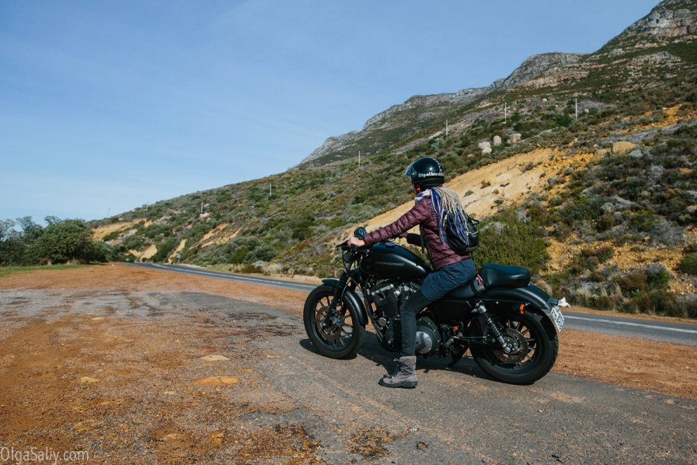 Girl on a bike in Cape Town
