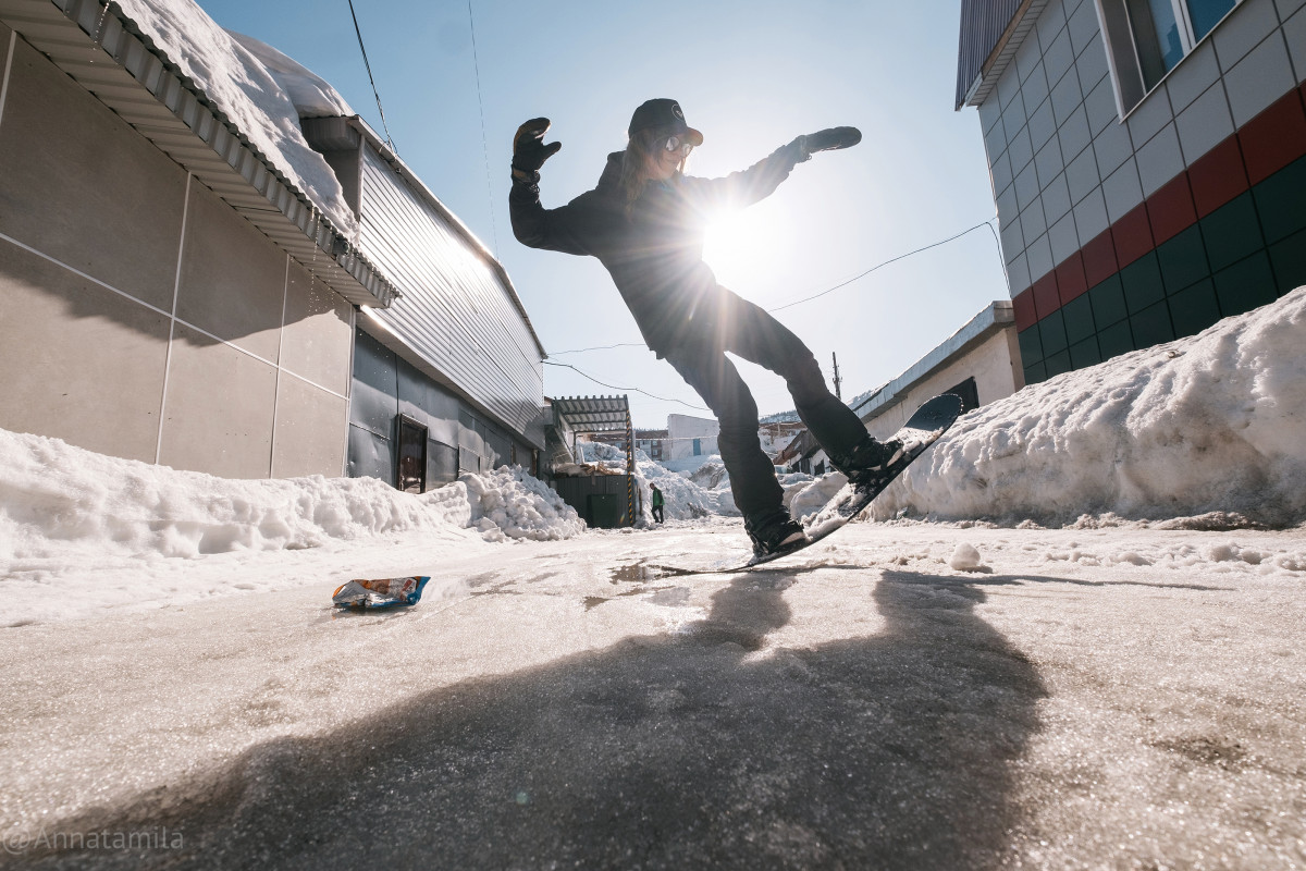 Urban Snowboarding, Siberia, Sheregesh