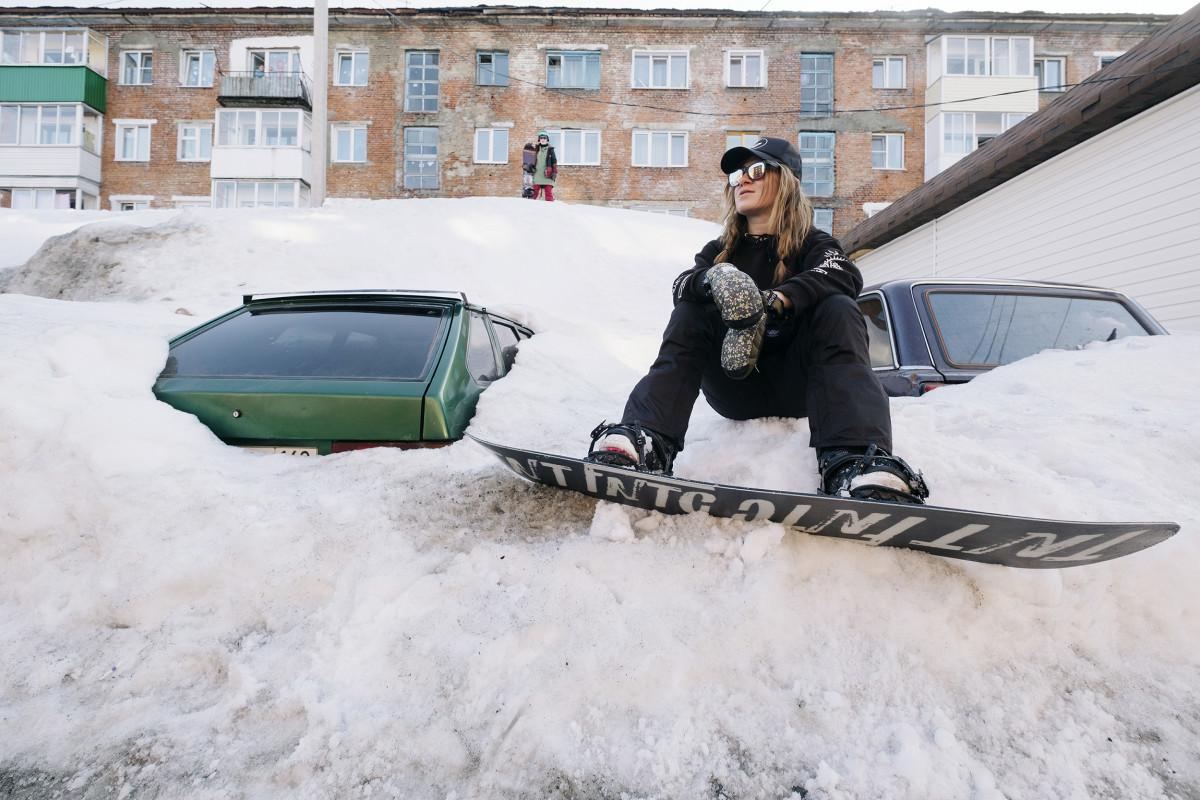 Стрит сноуборд в Шерегеше