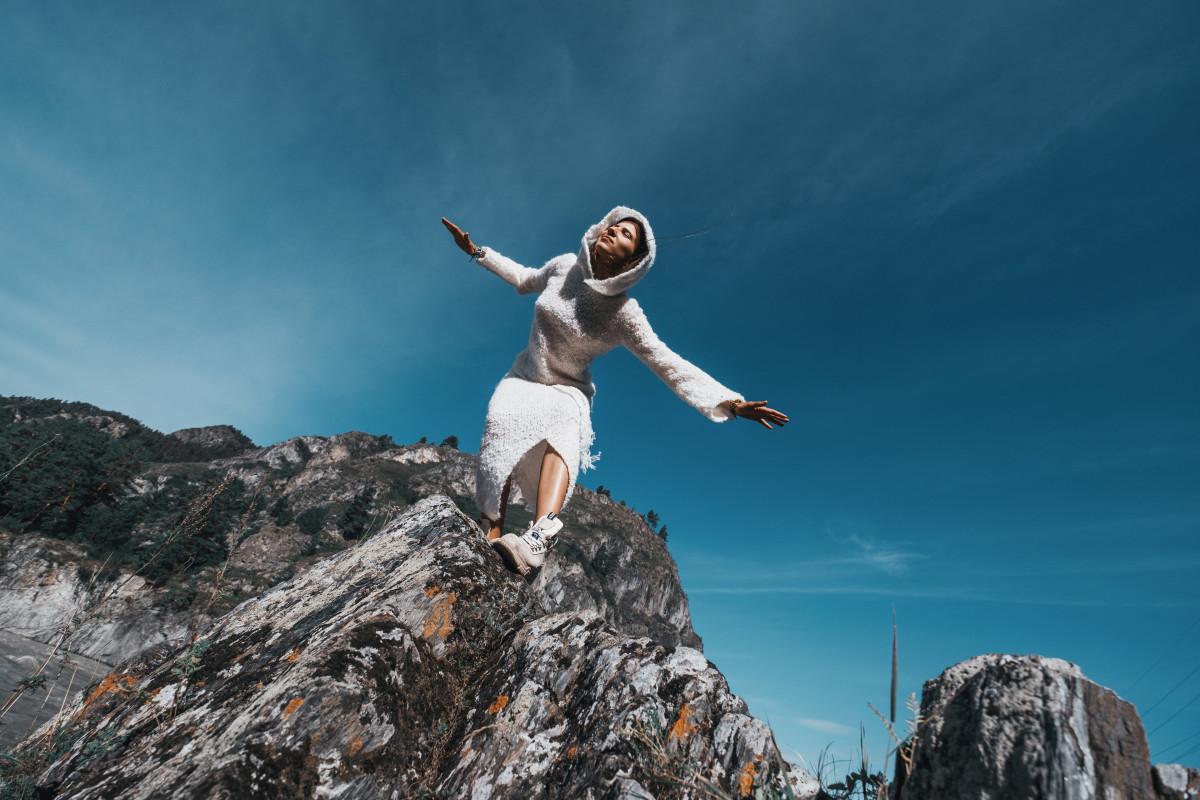 Altai mountains fashion photoshoot