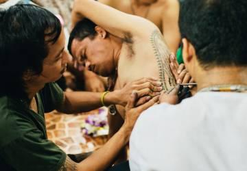 Photostory about Sak Yant Magic Tattoo Festival in Bangkok, Thailand