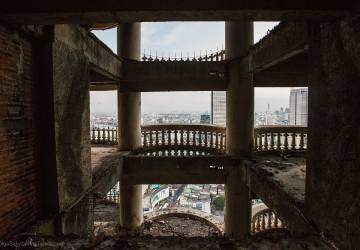 The highest abandoned skyscraper Bangkok gost tower Sathorn Unique