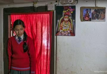 In Kumari's house. Living Goddess life in Nepal